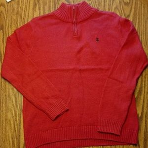 IZOD Sweater with Quarter Zip